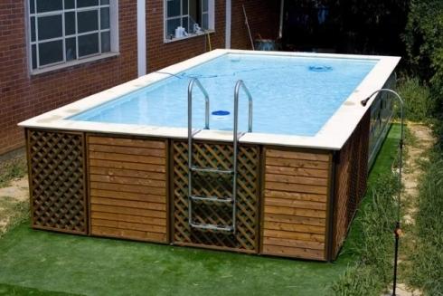 Piscine fuori terra badino piscine costruzione piscine - Piscine rigide fuori terra ...