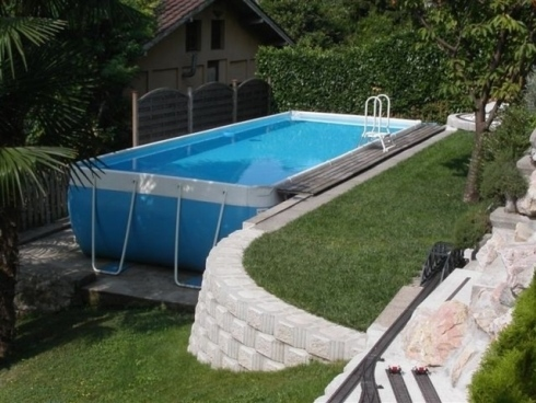Piscine fuori terra badino piscine costruzione piscine - Piscine da esterno fuori terra ...